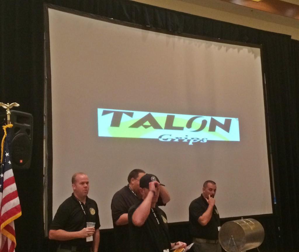 TALON Grips Logo displayed during Presentation and raffle.