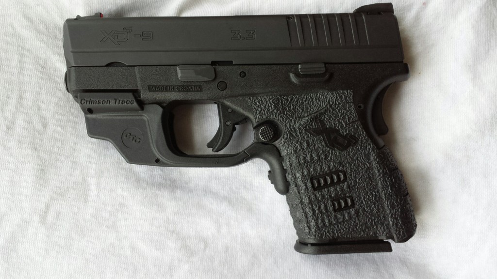 Springfield XD-s with Crimson Trace